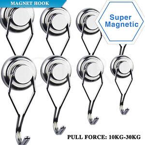 10-30kg Swivel Swing Powerful Magnetic Hooks Strong Heavy Duty Neodymium Magnet