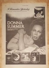 Donna Summer I remember yesterday  press advert Full page 28 x 38 cm poster