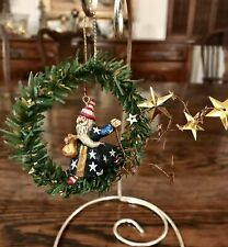 Midwest Cannon Falls Pam Schifferl Sandman Santa in a Wreath Ornament