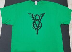 NEW VINTAGE V8 LOGO T-SHIRT script ford*chevy plymouth pontiac emblem nos conv @
