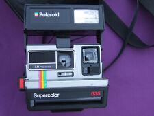 Vintage Polaroid Supercolor 635 cámara instantánea & Bolsa