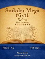 Sudoku: Sudoku Mega 16x16 Deluxe - Fácil Ao Extremo - Volume 35 - 468 Jogos...
