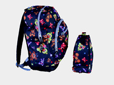 """Five Nights at Freddy's All Over Print 16"""" Backpack  & LunchBag  Black SET- NEW"""