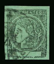ARGENTINA 1864  CORRIENTES - Ceres  (2c)  blue green  Sc# 4a  used VF stamp