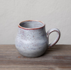 Handmade Pottery Speckled Purple Glaze Ceramic Coffee Mug