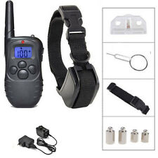 NEW Rechargeable LCD 100LV Level Shock Vibra Remote Pet Dog Training Collar US