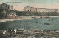 1906 VINTAGE Port St Mary Promenade Isle of Man POSTCARD Port St Mary to Braddan