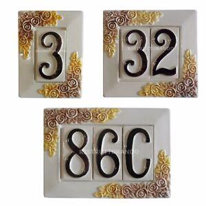 NUMERO CIVICO CERAMICA numeri civici componibili con cornice terracotta esterni
