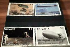 1990 Guyana Full Sets Of 4 Stamps - Aviation Anniversaries -PC/NH c/v £11