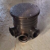 320mm Manhole Inspection Chamber Set 1x Lid 1x Base 1/2/3x Riser
