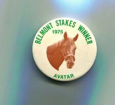 1975 PIN BELMONT STAKES WINNER AVATAR HORSE RACING TRIPLE CROWN