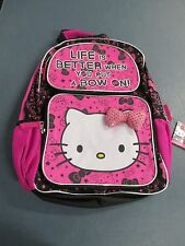 "NEW Hello Kitty Backpack ""Life Is Better When You Put Your Bow On!"" Ages 3+"