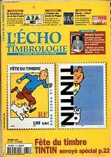 Revue TINTIN. L'écho de la Timbrologie février 2000. Timbre Tintin