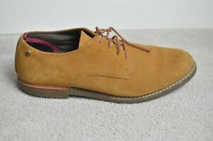 TIMBERLAND Brown suede lace up BROOK PARK oxford earthkeeper shoes UK 10.5 mens