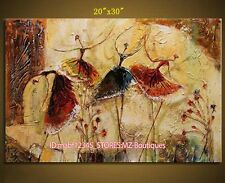 """20*30"""" Hand painted Oil Canvas Wall Art Home Decor Abstract dance NO Frame YH384"""