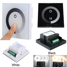 LED Touch Panel Dimmer Controller Wall Switch for Single RGB /W LED Light Strip