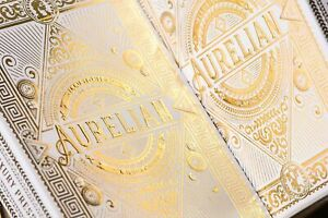 Bicycle Ellusionist White Aurelians Roman Gold Foil US Playing Cards Magic Poker