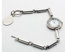 INFINITY: WOMENS STERLING SILVER 925 PIPE, W/ENGRAVBLE LINK ANALOG QUARTZ  WATCH