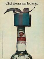 1977 Smirnoff Vodka 80 Proof Bottle Gift Box Vintage Color Photo Print Ad