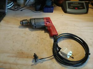 """Milwaukee 3/8"""" drill motor # 0222-1.Variable Speed 0-1000 RPM. Reversible, Used"""