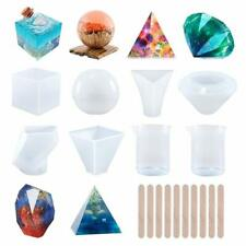 Candle Making Supplies DIY Molds 6 Piece Set Pyramid Flexible Reusable Easy