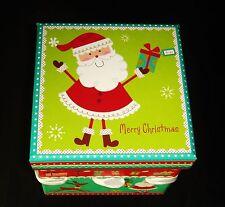 Decorative Keepsake Gift Box Santa Reindeer Christmas Seasonal Packaging