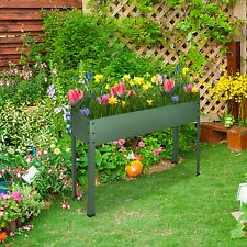 Metal Raised Elevated Garden Bed Planter Box Vegetables Fruits Herb Grow Corner