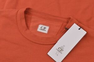 C.P. Company NWT Crew Neck Sweat Shirt Size L In Solid Orange Cotton