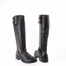 Kurt Geiger Magnum Women's Shoes Black Leather Knee High Boots Sz EU 38 New $550