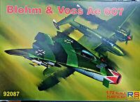 Blohm & Voss Ae 607 Caccia Sperimentale - RS Models Kit 1:72 92087 Nuovo