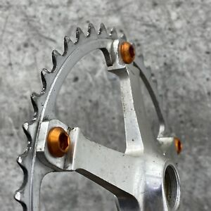 Sugino ALP Crank Set Vintage 144 BCD Track Fixie Single 42t New Wolf Tooth Bolts