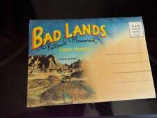 Badlands National Monument South Dakota Vintage Postcard Folder Nice Colorful d