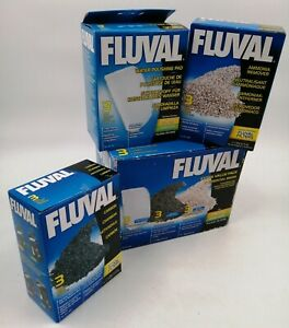 Fluval 104/105/204/205 Extra Value Media Pack Carbon Ammonia PolishingPad UNUSED