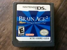 Brain Age 2: More Training in Minutes a Day (Nintendo DS, 2007) Used Free US S/H