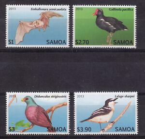 Samoa 2013 Birds Part Set MNH Lovely Condition