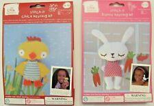 Kids' Craft Kits Lot_Easter Bunny & Chick Stitch-it_Toy_Key Ring_Bag Dangle_New