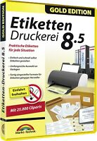 Etiketten Druckerei 8.5 Gold Edition - Download Version sofort Versand Win10,8,7
