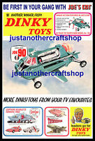 Dinky Toys 102 Joe 90 Gerry Anderson 1968 Large Size Poster Advert Leaflet Sign
