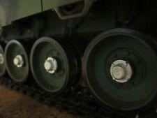 Tamiya Leopard 2A6 Metall  Deko Laufrollen Kappen Umbau RC Panzer Zubehör 1/16