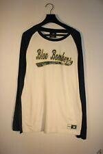 WINNIPEG BLUE BOMBERS - LONG-SLEEVE T-SHIRT, WHITE AND BLUE - ADULT MALE SIZE 10
