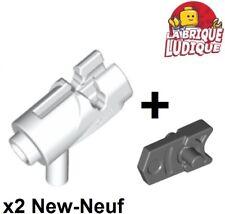 Lego -2x shooter arme weapon pistolet gun blaster blanc/white 15391 + 15392 NEUF