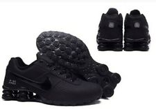 New Women All Black Nike Shox Deliver Athletic Running Shoes