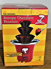 Snoopy Chocolate Fountain - tiered - Peanuts Fondue Red New in Box