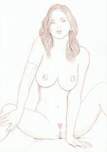 dessin de nu féminin