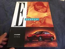 1996 Hyundai Elantra USA Market Color Brochure Catalog Prospekt