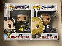 Funko Pop! Loki GITD popcultcha Exclusive and Thor Fye Exclusive bundle