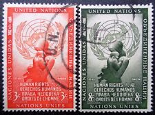 UNITED NATIONS NY #29-30 used 1954 human rights mother & child set