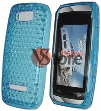 Cover For Nokia Asha 305 306 Gel Silicone TPU Blue Diamond