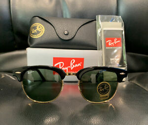Ray-Ban Clubmaster Sunglasses Black/Gold Frame