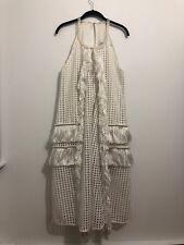 Self Portrait White Fringe & Pearl Dress Unique Piece